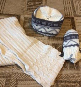 Шапка, варежки и шарф