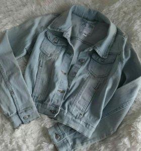 Джинсовая куртка на девочку-подростка, размер 164