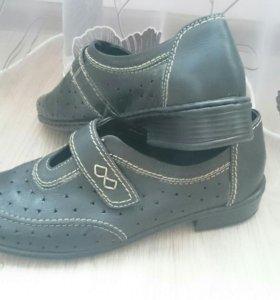Ортопедические туфли, натуральная кожа, р 41.