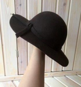 Шляпа zarina , шоколадный цвет