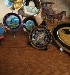 Сувенирные тарелочки-магниты