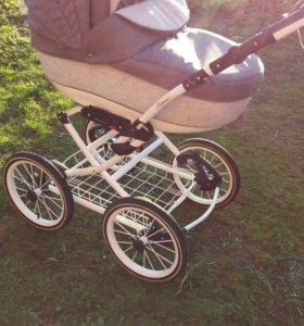 Детская коляска Adamex Katrina 3 в 1 с адаптерами