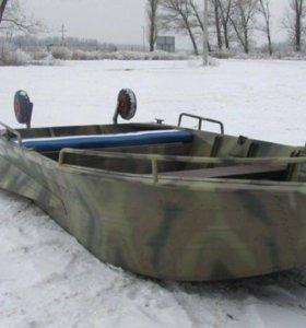 Мотор лодка алюминиевая Охотник 320 Tohatsu 3,5