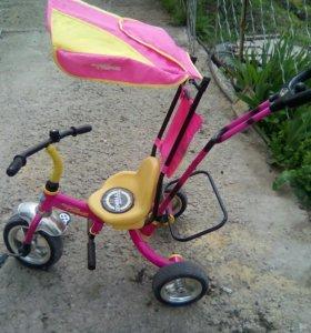 Велосипед с ручкой)