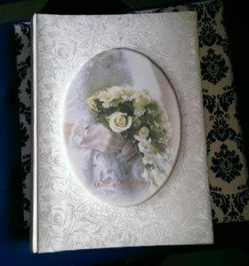 Свадебный альбом белый с цветами
