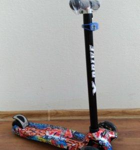 🛴 Самокат детский Scooter Maxi print Хип-Хоп