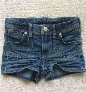 Джинсовые шортики на девочку H&M р. 3-4 года