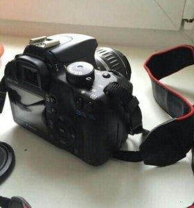 Зеркальный фотоаппарат canon1000d