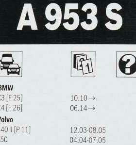 Стеклоочистители Bosch AeroTwin A953S