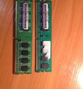 Оперативная память 2 штуки по 2 гб DDR2