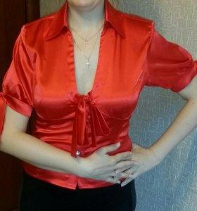 Блузка красная 46 размер
