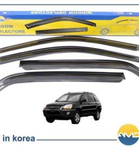 Дефлекторы (ветровики) на окна Kia Sportage 2