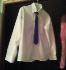 Рубашка с галстуком, 34 размер
