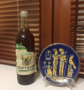 Коллекционная бутылка крымского белого вина 1995