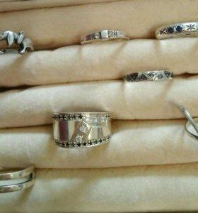 Кольца и серьги серебро
