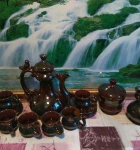 Чайный глиняный сервиз