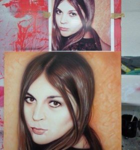 Портреты, художественная роспись