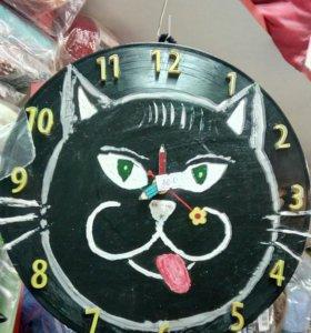 Часы настенные кварцевые ручной работы