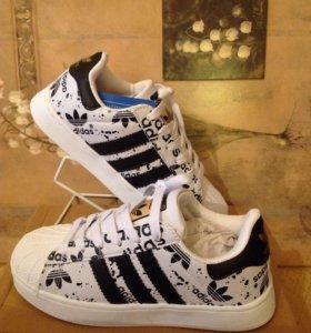 Кроссовки Adidas Superstar - р.36(23см) - 41(25,5)