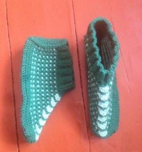 Вязанные шерстянные носки