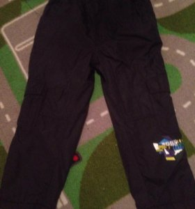 Утеплённые брюки+джинсовый комбез