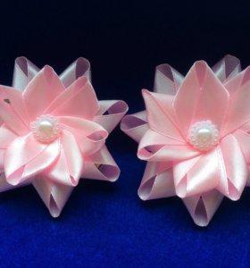 Нежно-розовые заколочки для девочек