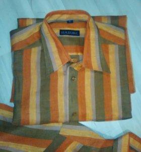 Новые летние рубашки 100% лён