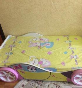Детская кроватка машинка