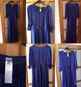Платье чернильного цвета, 44 размер