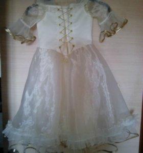 Платье золотистое 4-6 лет