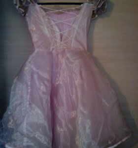 Платье розовое 4-6 лет