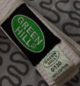 Белый пояс для кимоно GREEN HILL оригинальный
