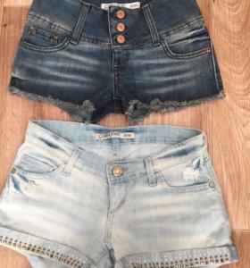 Шорты джинсовые две пары