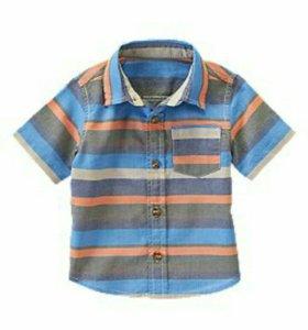 Рубашки хлопок от 12м  до 8 лет