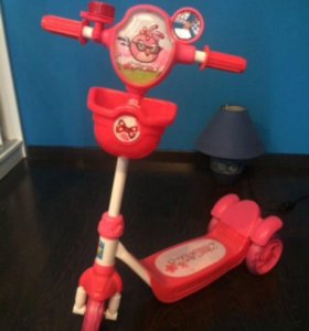 Самокат трехколёсный Angry Birds