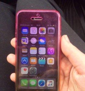 Двухсторонней силиконовый чехол на айфон 5,5s