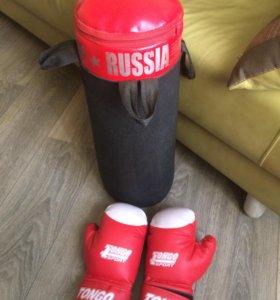 Набор боксёрский мешок и перчатки