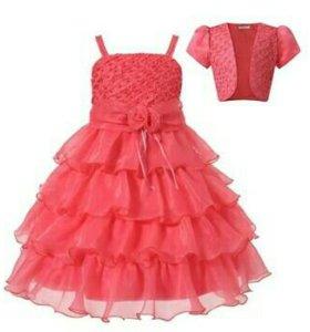Детское нарядное платьице (новое)