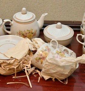 Новый чайный сервиз 15 предметов