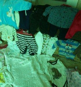Большой пакет одежды для малыша 0-5мес