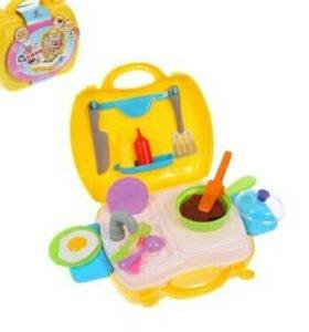 """Игровой набор""""Кухня"""" в чемодане, 22 предмета"""