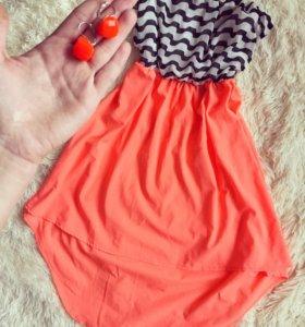 Платье и серьги в цвет