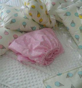 Бортики - клмплект в детскую кроватку
