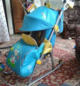 Санки-коляска Ника-детям 5