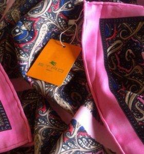Etro новый платок 90/90 см шелк твил