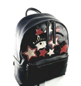 Дизайнерский кожаный рюкзак.