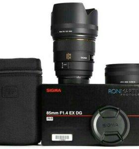 Объектив Sigma 85 mm 1.4 для Canon