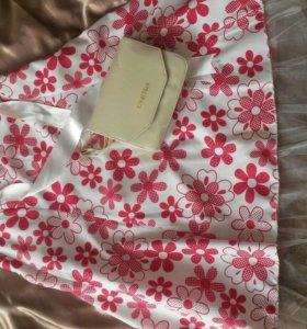 Летняя юбка + клатч