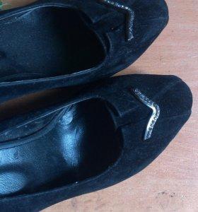 Туфли бархатные