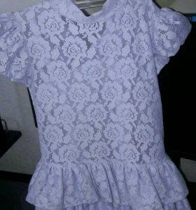 Кружевное платье на девочку 2-3 года